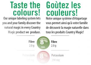 Taste the colours! Gout les coleurs! unique nutrition label information