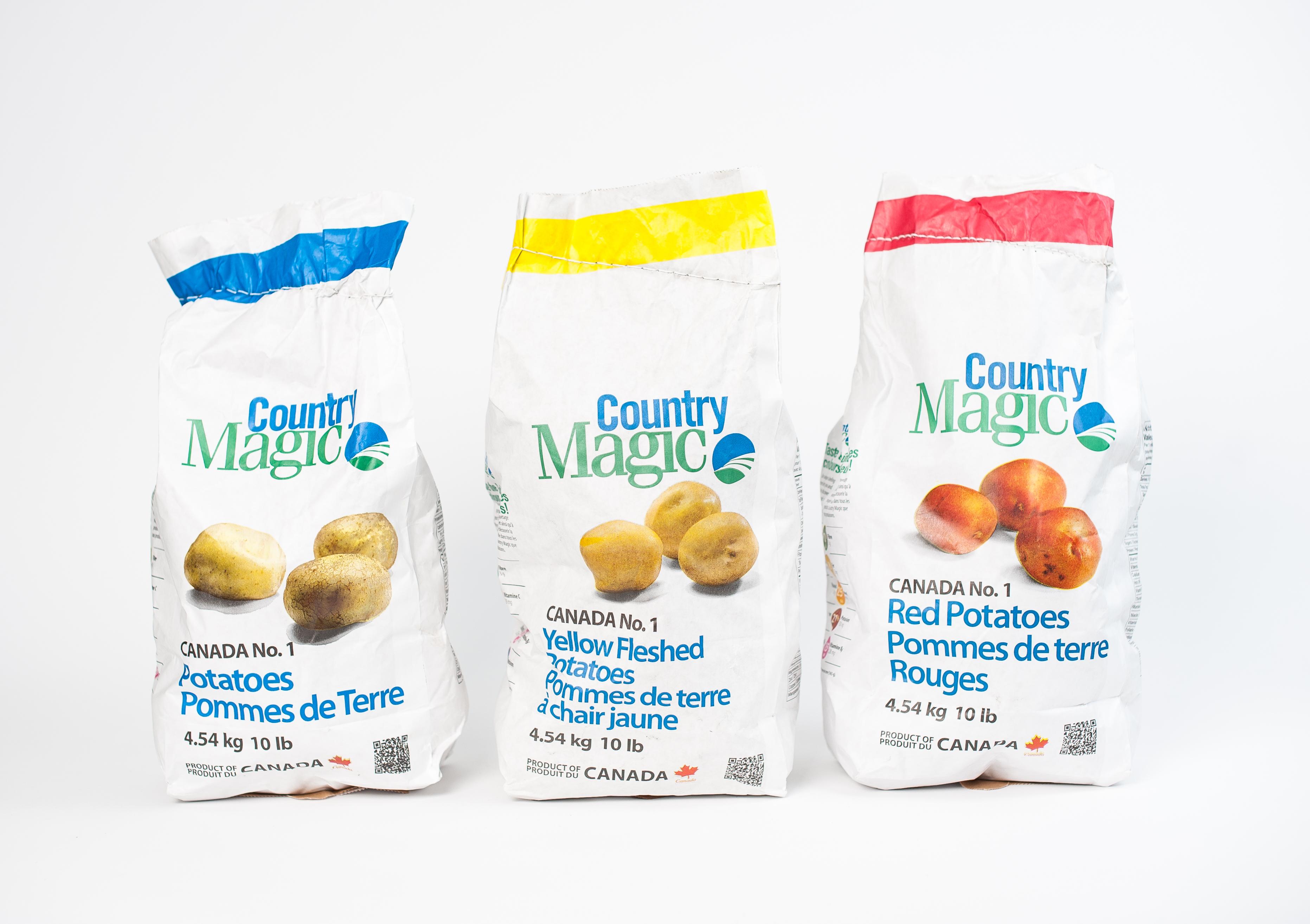Country Magic Potatoes; White, Red, Yellow