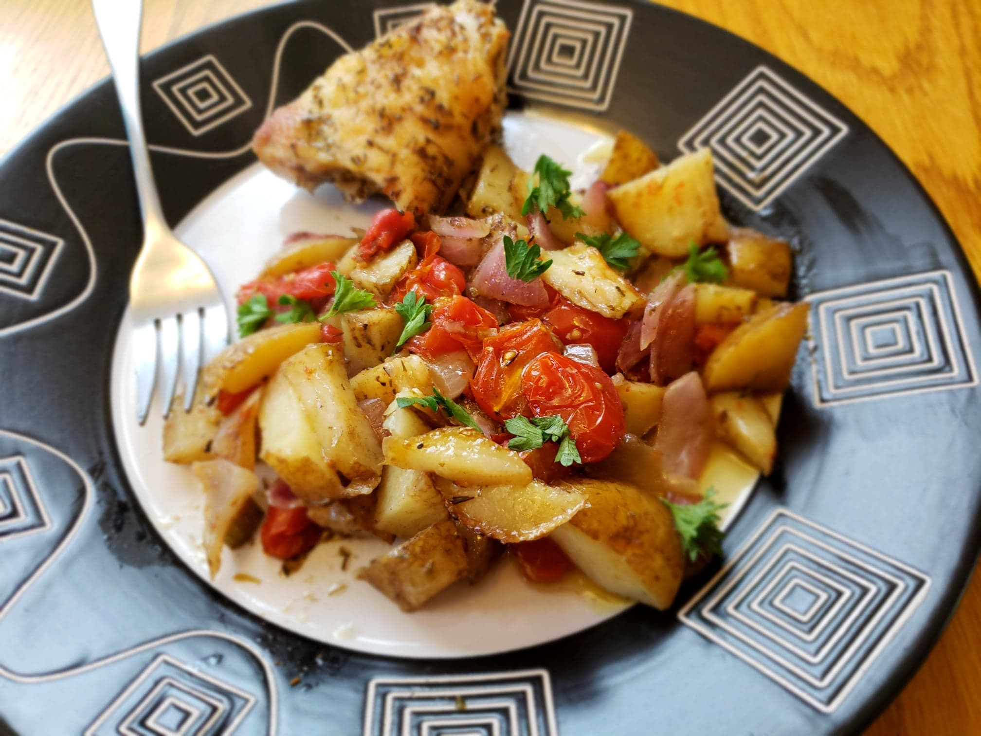 Oven Roasted Vegetables and Chicken