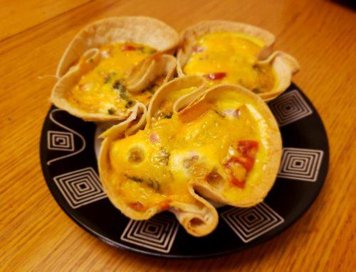 Tomato Tortilla Quiches